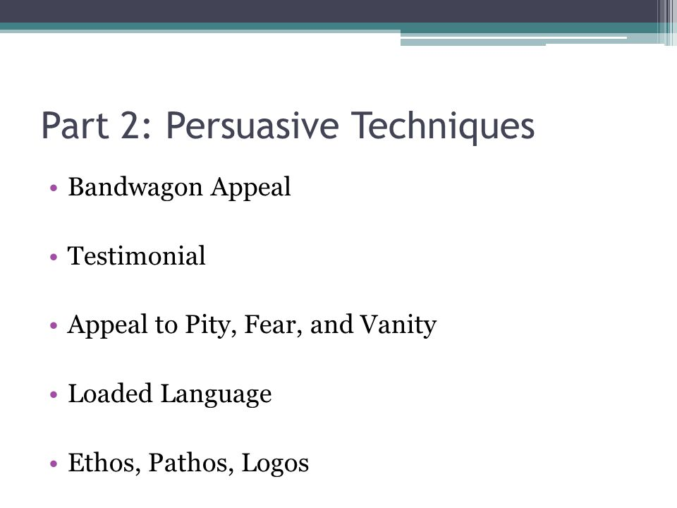 persuasive language techniques essay Reader approved wiki how to write a persuasive essay examples of personal pronouns in persuasive writing five parts: writing persuasively laying the groundwork drafting your essay polishing your essay .