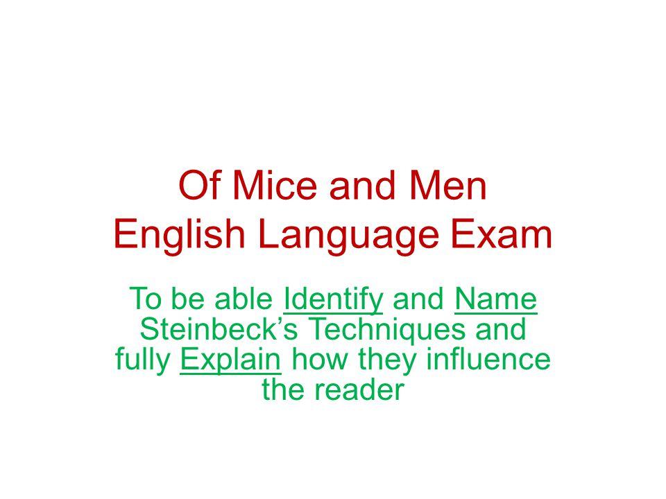 Of Mice and Men English Language Exam
