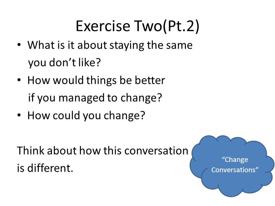 Change Conversations