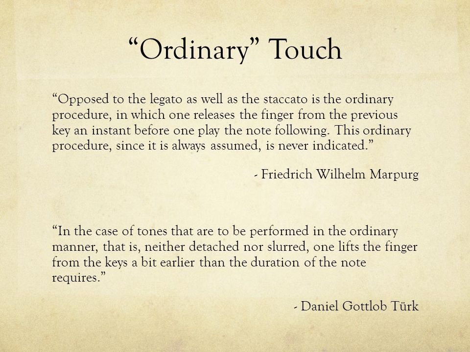 Ordinary Touch