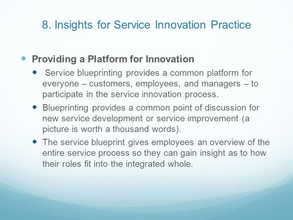 8. Insights for Service Innovation Practice