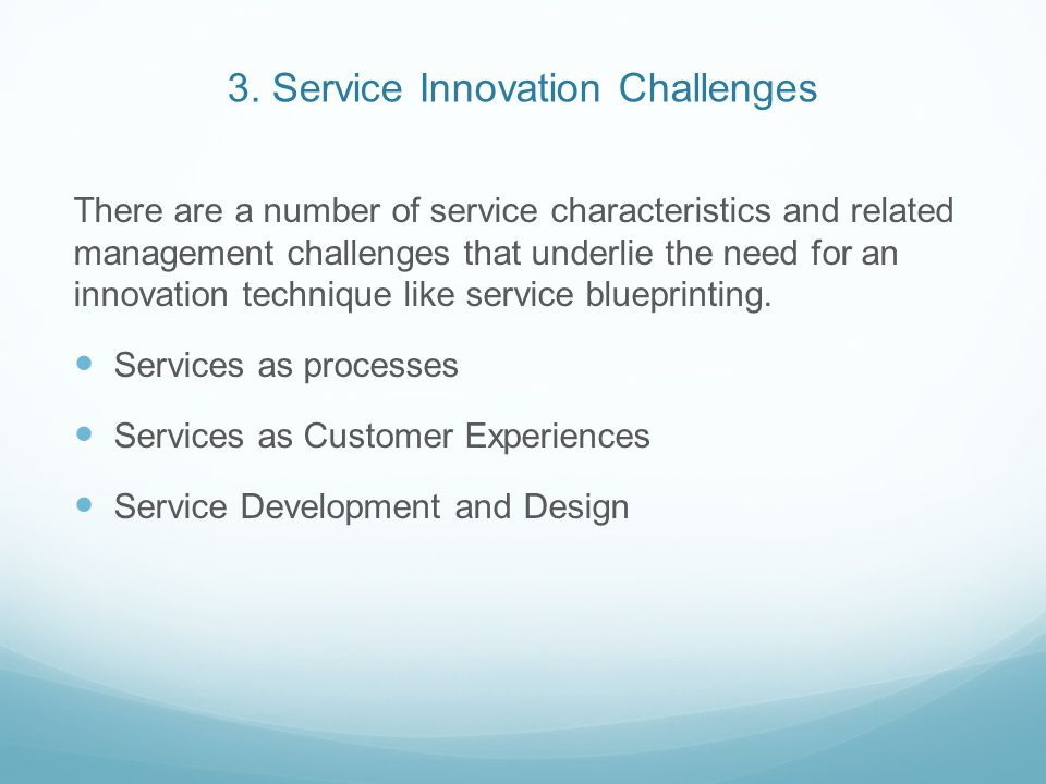 3. Service Innovation Challenges