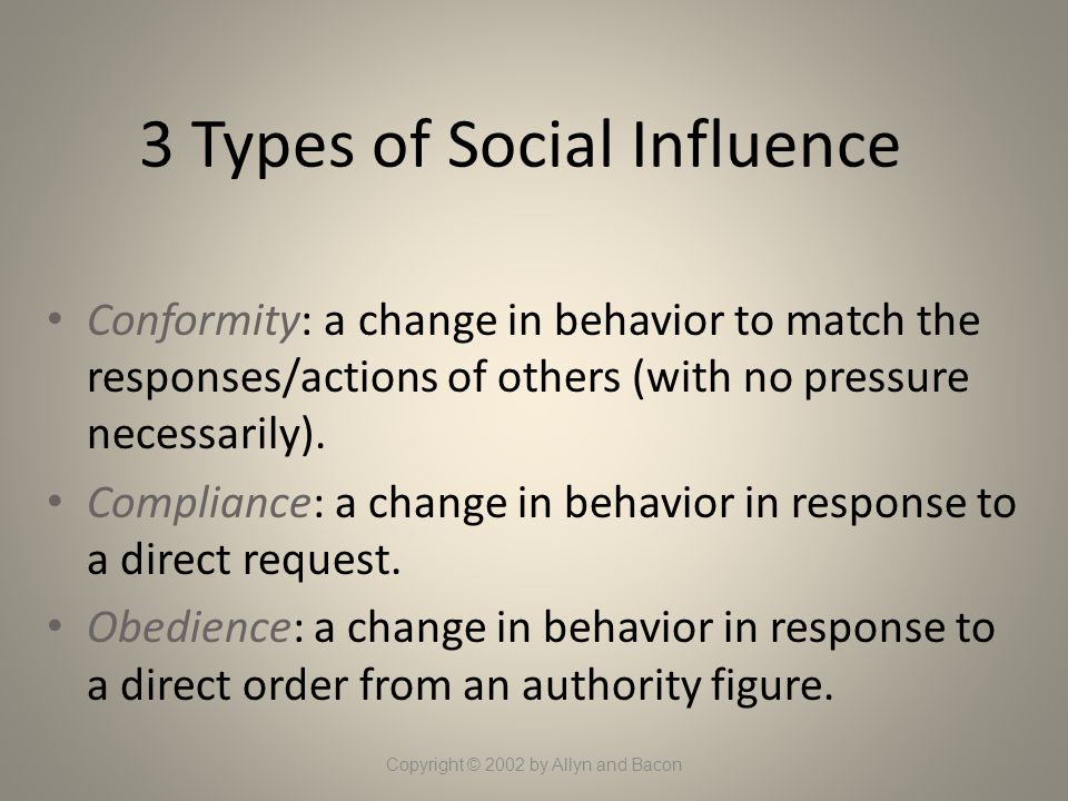 3 Types of Social Influence