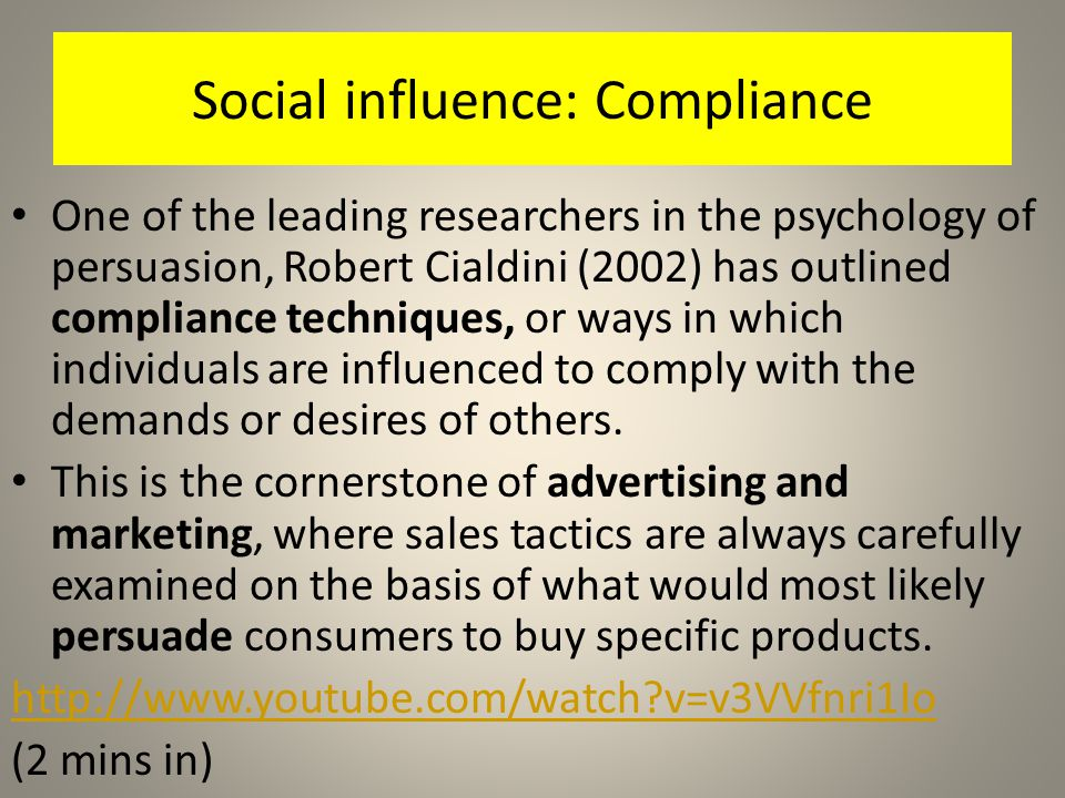 Social influence: Compliance
