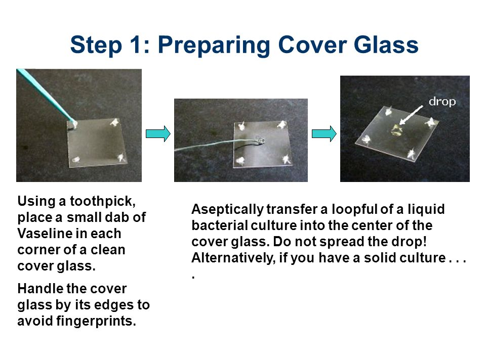 Step 1: Preparing Cover Glass