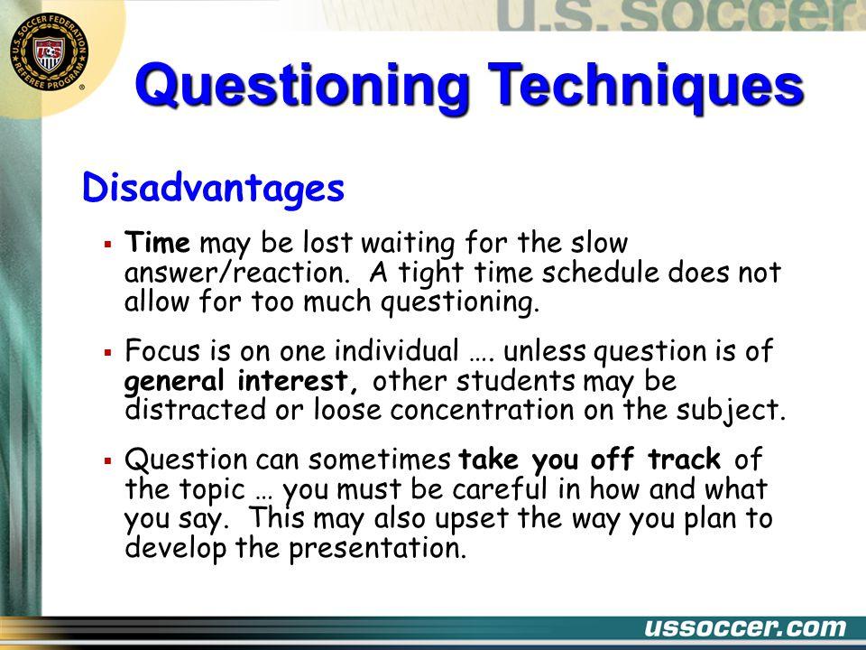 Questioning Techniques