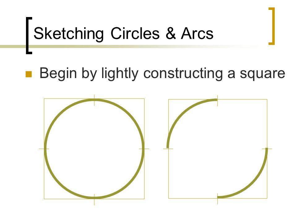 Sketching Circles & Arcs