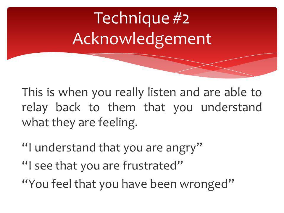 Technique #2 Acknowledgement