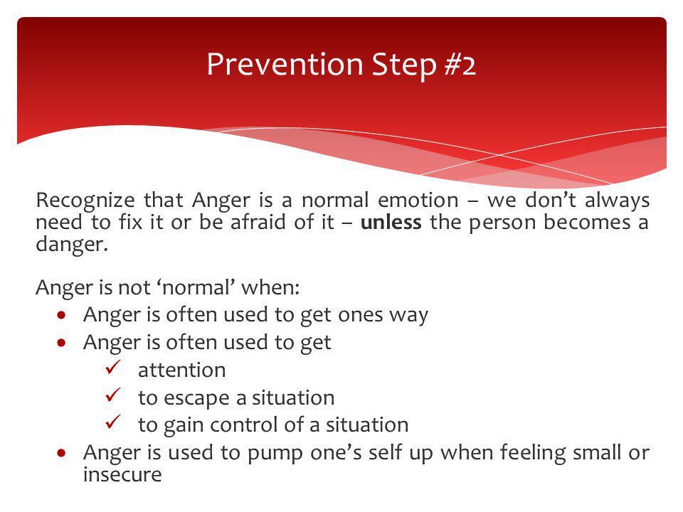 Prevention Step #2