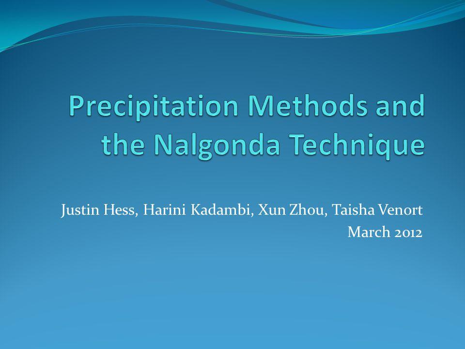 Precipitation Methods and the Nalgonda Technique