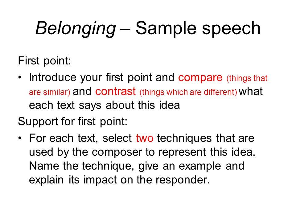 Example essay belonging