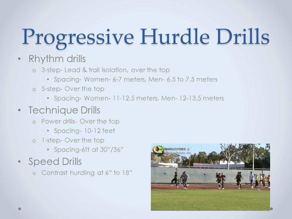 Progressive Hurdle Drills