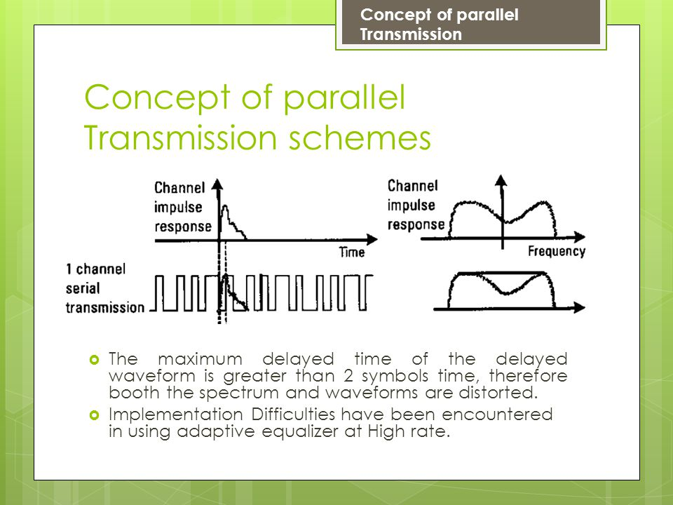 Concept of parallel Transmission schemes