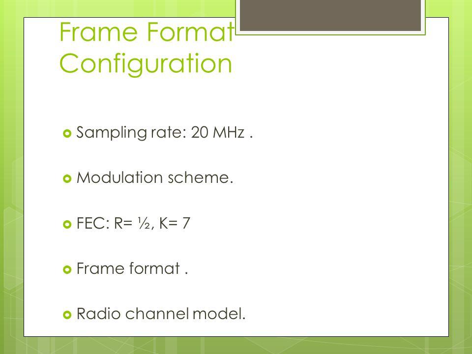 Frame Format Configuration