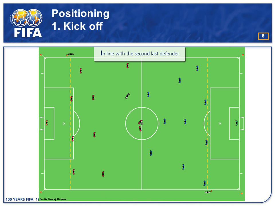 Positioning 1. Kick off