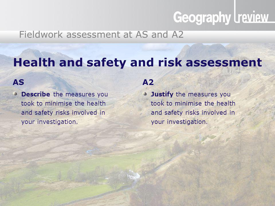 Health and safety and risk assessment
