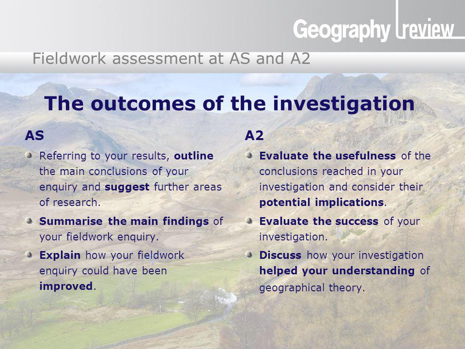 The outcomes of the investigation