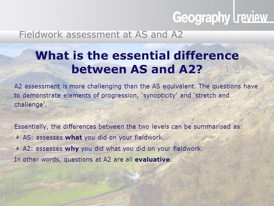 What is the essential difference between AS and A2