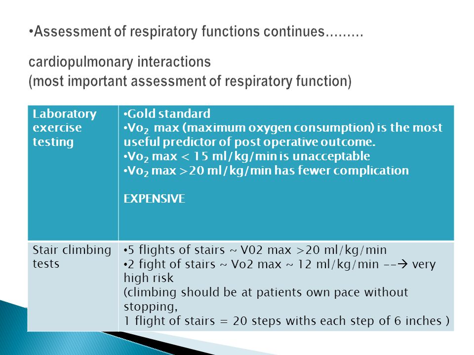 Assessment of respiratory functions continues……… cardiopulmonary interactions (most important assessment of respiratory function)