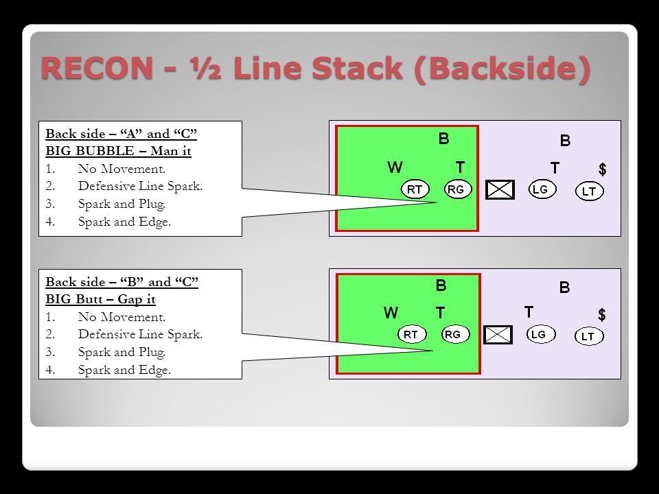 RECON - ½ Line Stack (Backside)