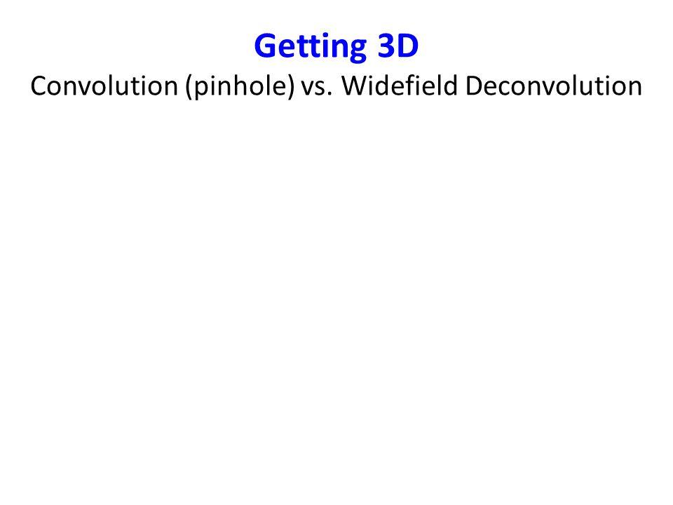 Getting 3D Convolution (pinhole) vs. Widefield Deconvolution