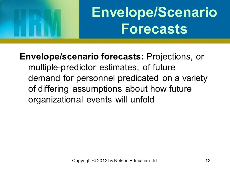 Envelope/Scenario Forecasts