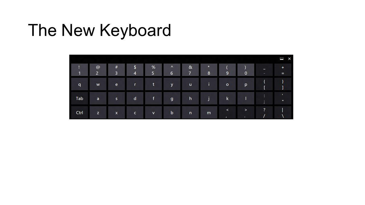 The New Keyboard Removing four keys free up a row