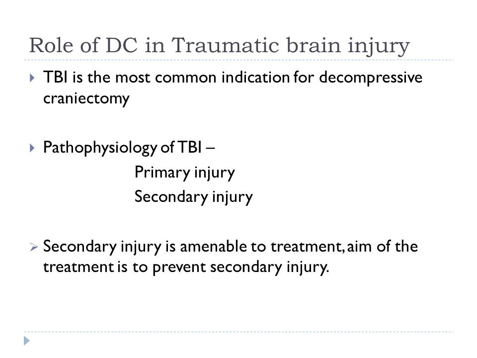 Role of DC in Traumatic brain injury
