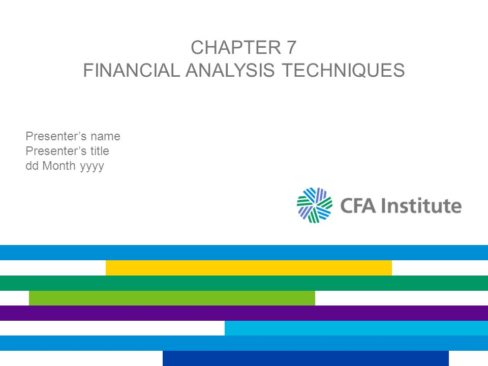 Chapter 7 Financial Analysis Techniques