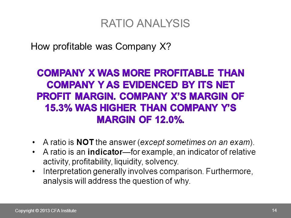 ratio analysis How profitable was Company X