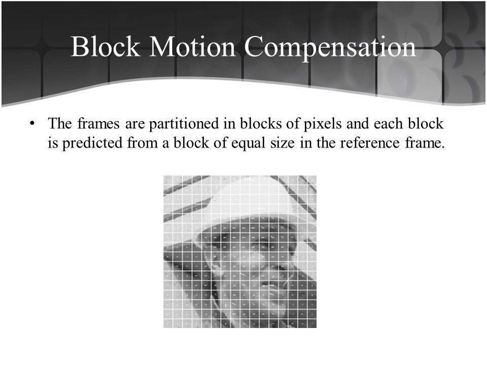Block Motion Compensation