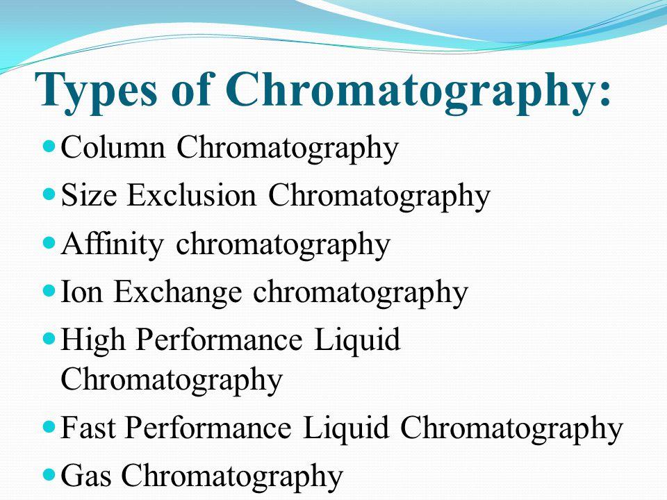 Types of Chromatography: