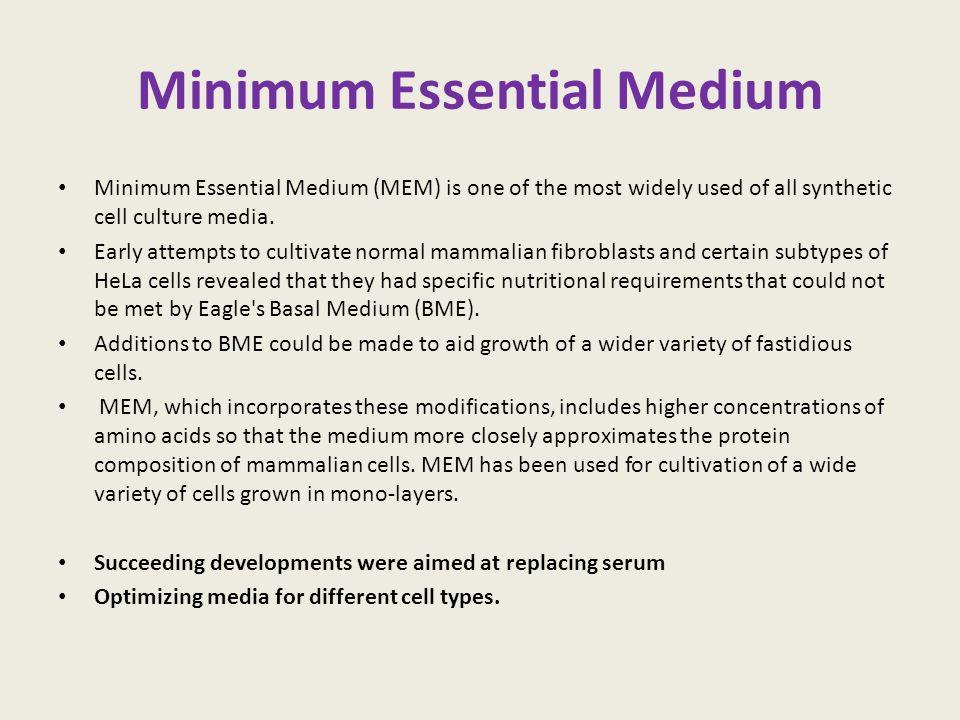 Minimum Essential Medium