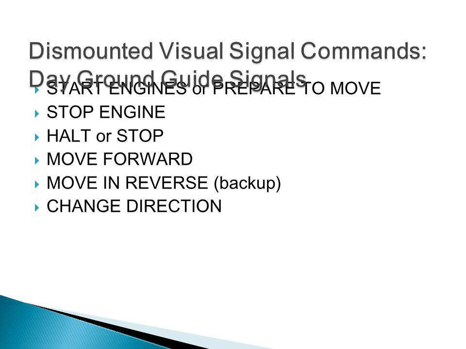 Dismounted Visual Signal Commands: Day Ground Guide Signals