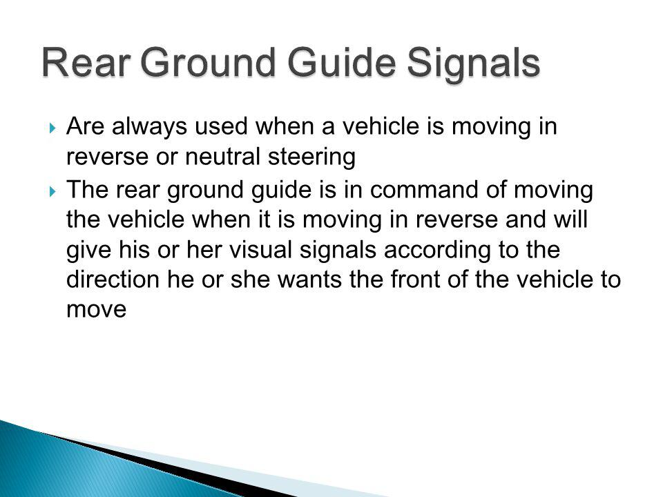 Rear Ground Guide Signals