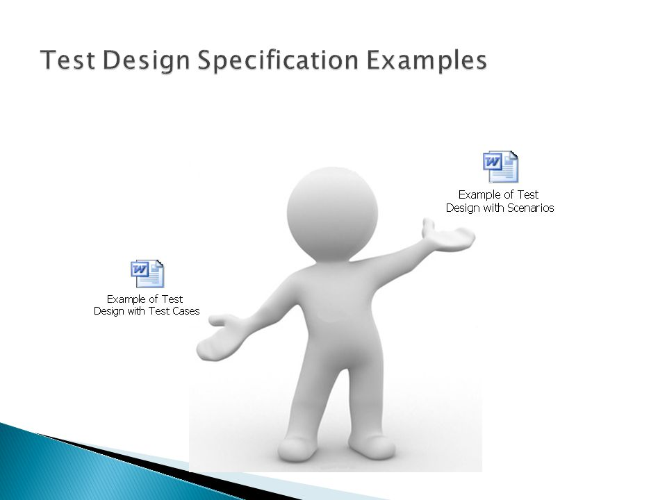 Test Design Specification Examples
