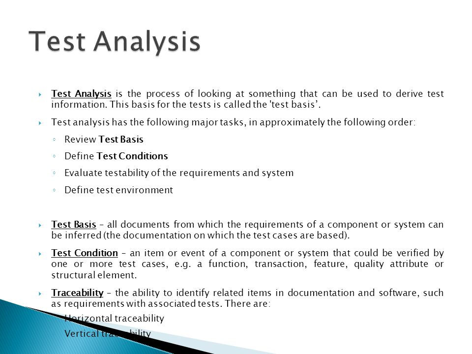 Test Analysis