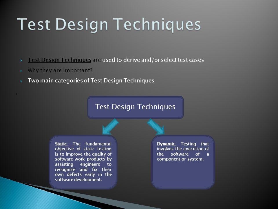 Test Design Techniques