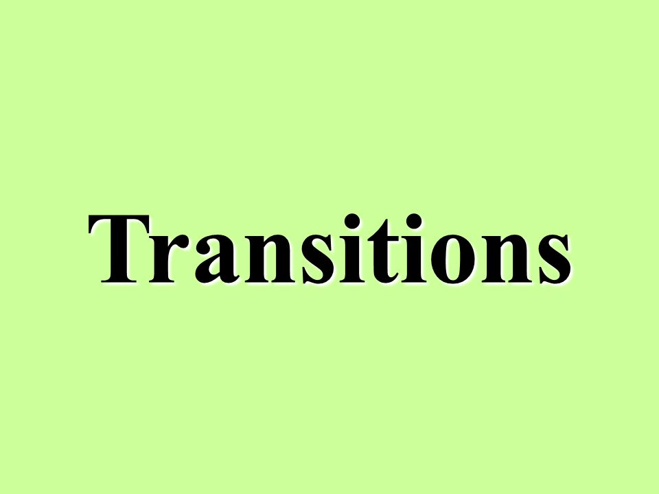 Transitions 13