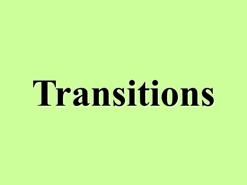 Transitions 13