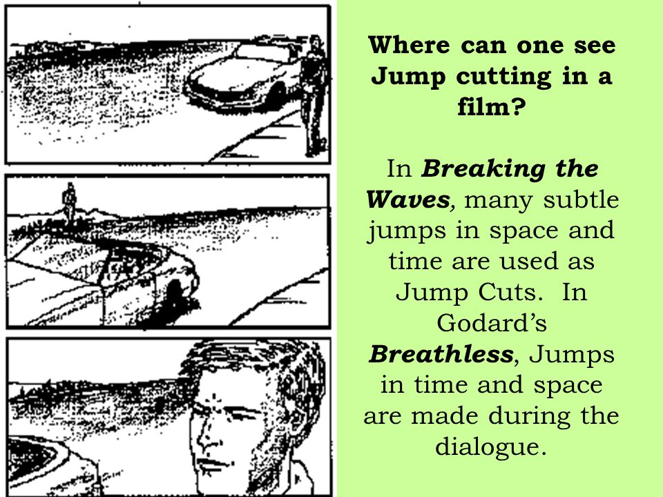 Where can one see Jump cutting in a film