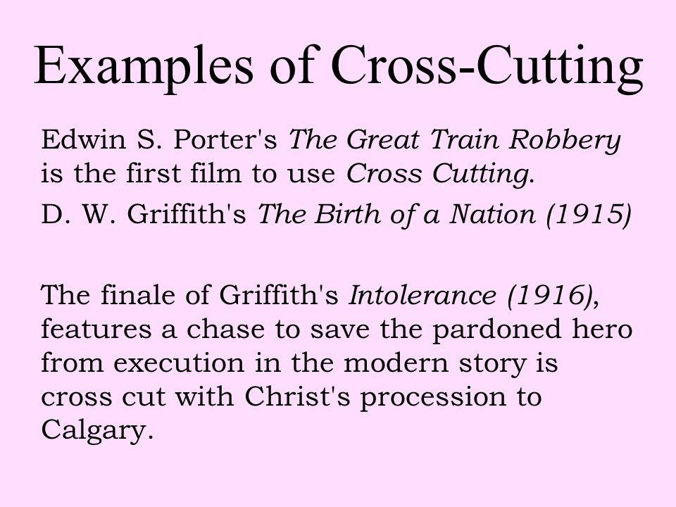 Examples of Cross-Cutting