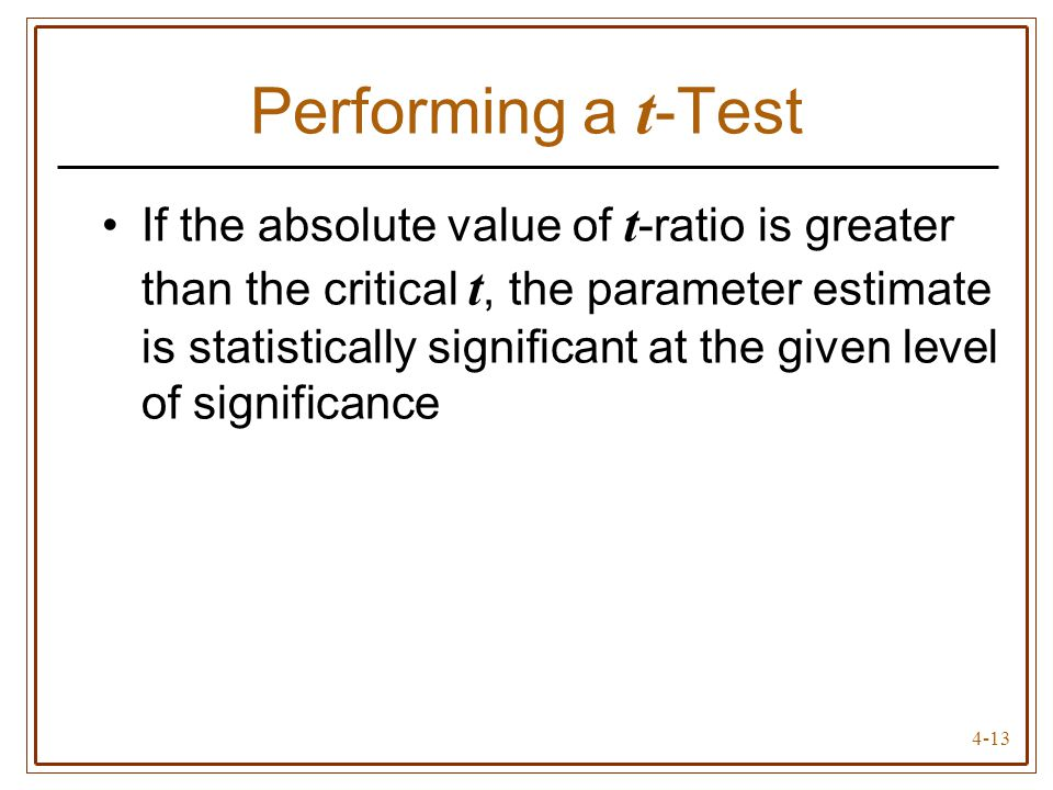 Performing a t-Test