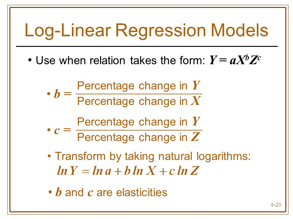 Log-Linear Regression Models