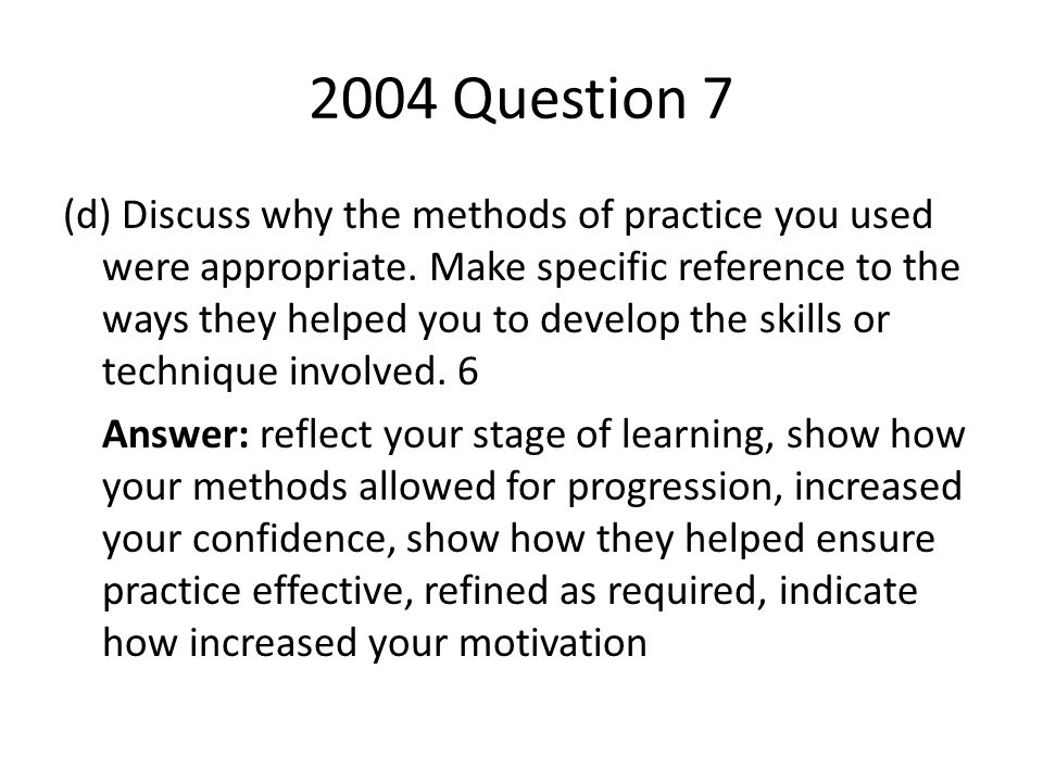 2004 Question 7
