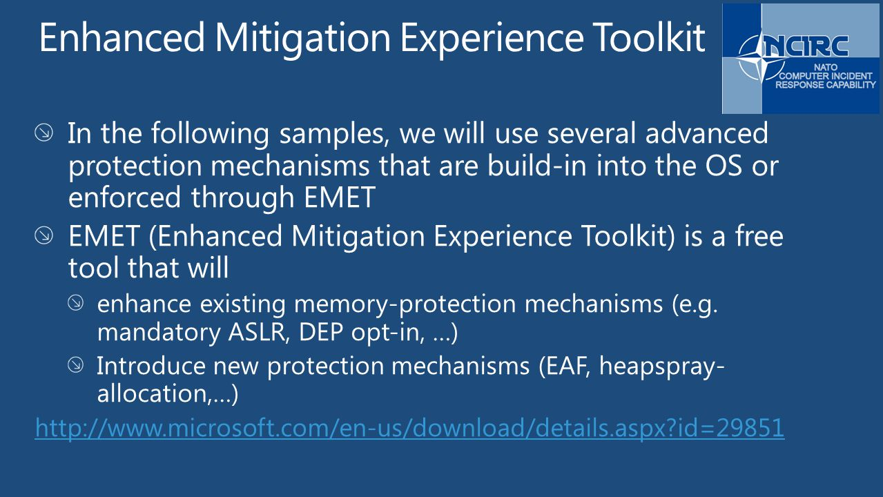 Enhanced Mitigation Experience Toolkit