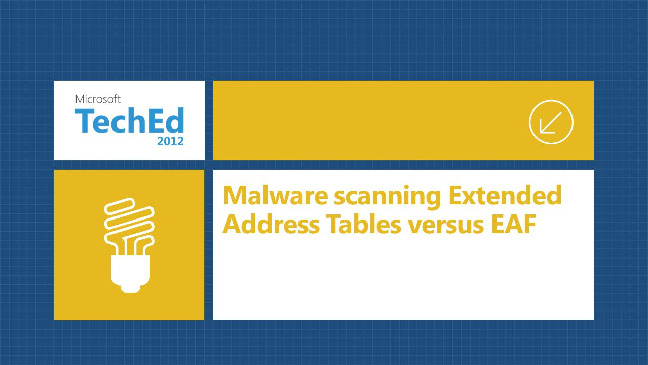 Malware scanning Extended Address Tables versus EAF