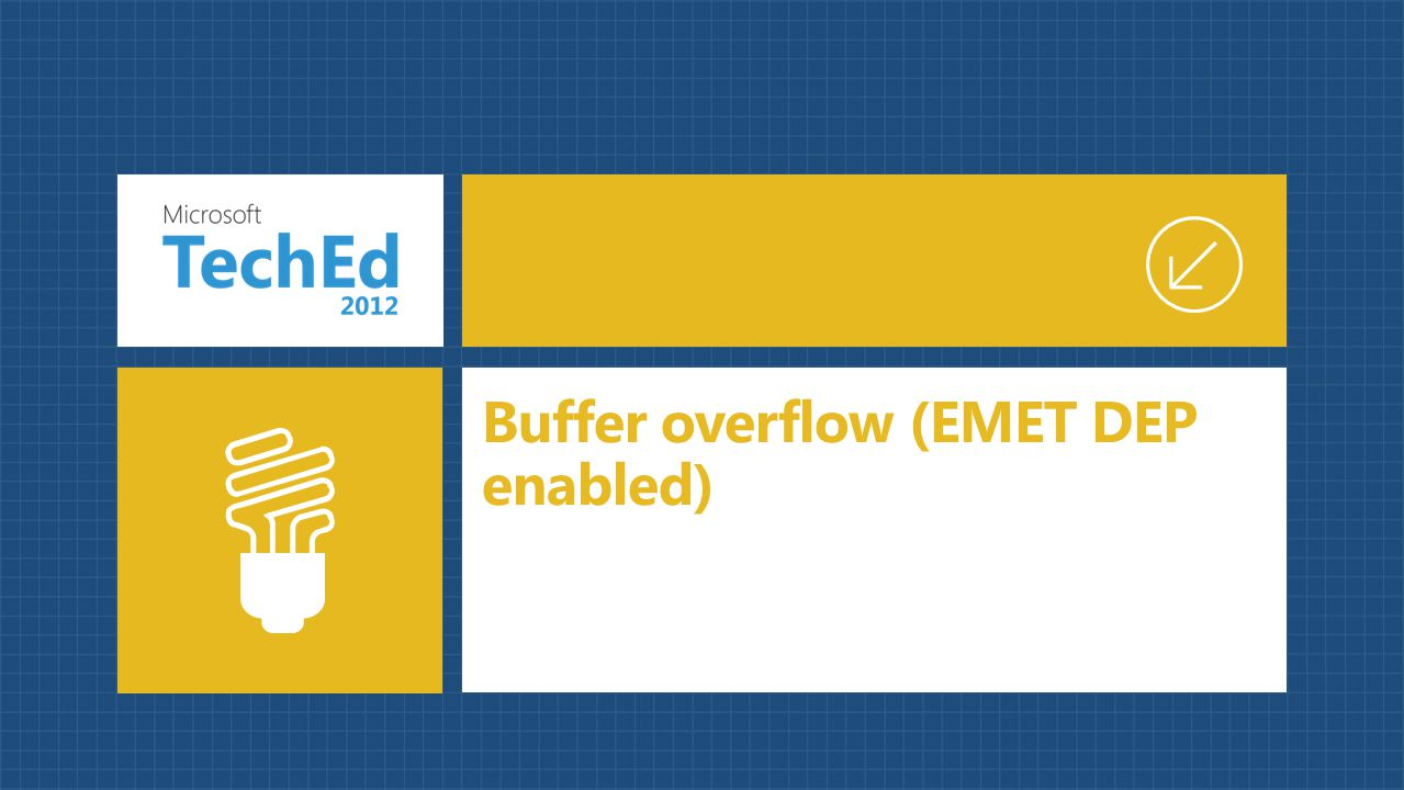 Buffer overflow (EMET DEP enabled)
