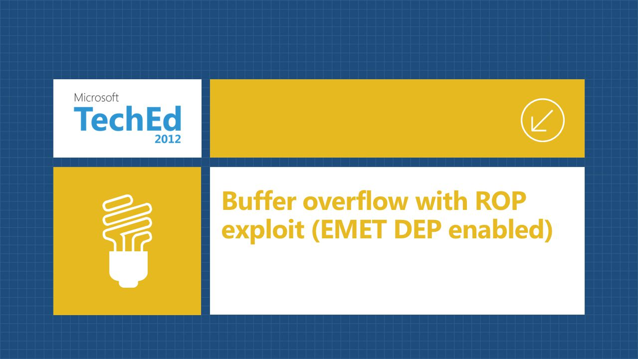 Buffer overflow with ROP exploit (EMET DEP enabled)