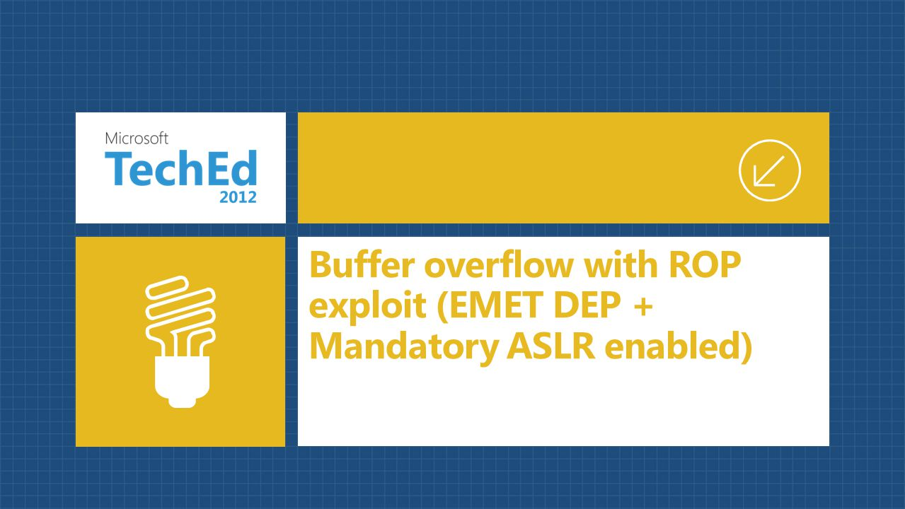 Buffer overflow with ROP exploit (EMET DEP + Mandatory ASLR enabled)